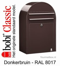Brievenbus Bobi Classic donkerbruin RAL 8017
