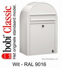 Brievenbus Bobi Classic wit RAL 9016