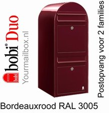 Brievenbus Bobi Duo bordeauxrood RAL 3005