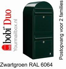 Brievenbus Bobi Duo zwartgroen RAL 6064