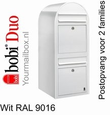 Brievenbus Bobi Duo wit RAL 9016