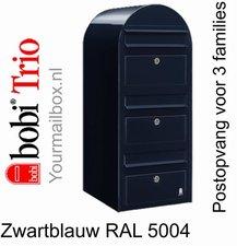 Brievenbus Bobi Trio zwartblauw RAL 5004