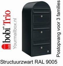 Brievenbus Bobi Trio structuurzwart RAL 9005