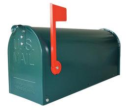 Amerikaanse brievenbus mailbox staal groen