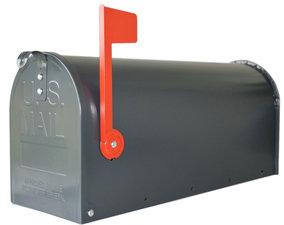 Amerikaanse brievenbus mailbox staal grijs