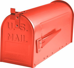 Amerikaanse brievenbus mailbox staal Rood
