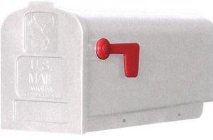 US Mailbox brievenbus kunststof wit