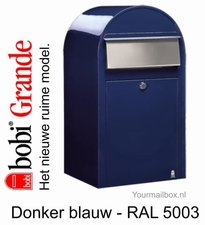 Brievenbus Bobi Grande donkerblauw RAL 5003