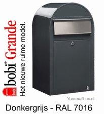Brievenbus Bobi Grande donkergrijs RAL 7016