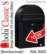 Bobi brievenbus Classic S structuurzwart RAL 9005