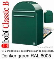 Brievenbus Bobi Classic B donkergroen RAL 6005