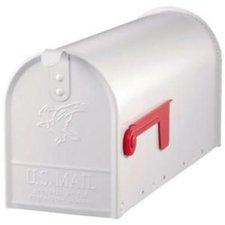 Amerikaanse brievenbus mailbox wit staal