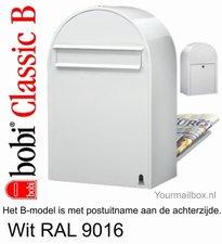 Brievenbus Bobi Classic B wit RAL 9016