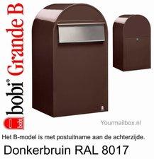 Brievenbus Bobi Grande B donkerbruin RAL 8017