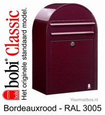 Brievenbus Bobi Classic bordeaux rood RAL 3005