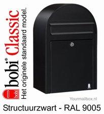 Brievenbus Bobi Classic structuurzwart RAL 9005