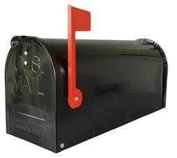 Amerikaanse brievenbus mailbox staal zwart