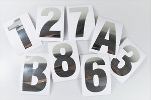 Huisnummer / container stickers Zilver RVS-look 10 CM