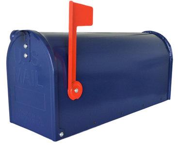 Amerikaanse brievenbus mailbox staal blauw