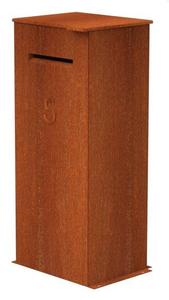 Pakketbrievenbus Vanra cortenstaal