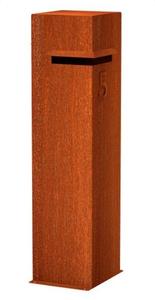 Design brievenbus cortenstaal Lixar