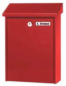 eenvoudige brievenbus rood