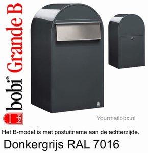 Brievenbus Bobi Grande B donkergrijs RAL 7016