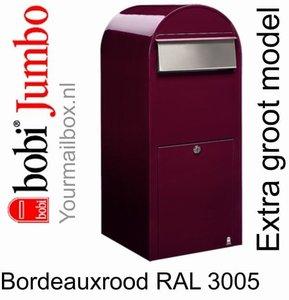 Brievenbus Bobi Jumbo bordeauxrood RAL 3005
