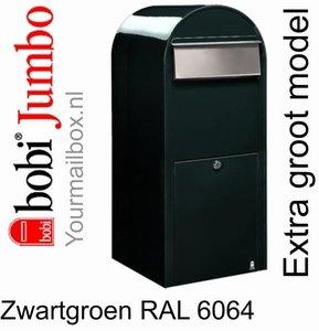 Brievenbus Bobi Jumbo zwartgroen RAL 6064