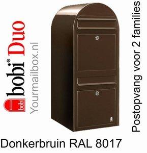 Brievenbus Bobi Duo donkerbruin RAL 8017
