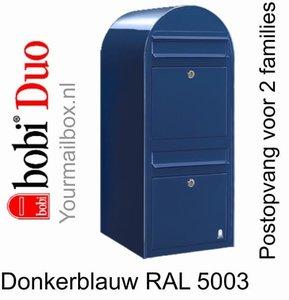Brievenbus Bobi Duo donkerblauw RAL 5003