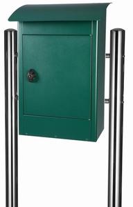 Grote brievenbus Zandvoort groen mat - incl. RVS statief