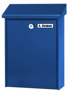 goedkope brievenbus blauw