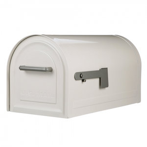 US Mailbox mét slot / Afsluitbare brievenbus wit
