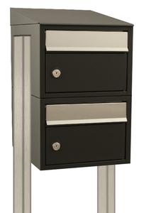 brievenbusconstructie 2 postkasten met palen
