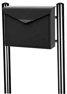 Envelop brievenbus zwart met statief
