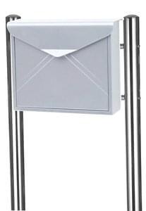 RVS Envelop brievenbus Inox met palen