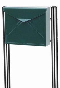 Envelop brievenbus donkergroen met statief