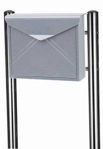 Envelop brievenbus zilver met statief