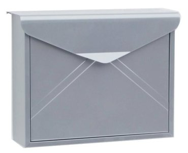 Envelop brievenbus zilver