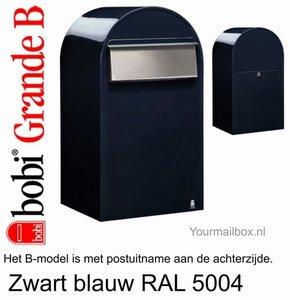 Brievenbus Bobi Grande B zwartblauw RAL 5004